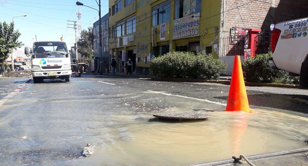 Arequipa: colectores de desagües en riesgo por antigüedad. (Foto: Zenaida Condori)