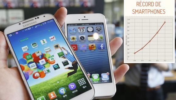 La venta de smartphones superó los 1.000 millones en el mundo