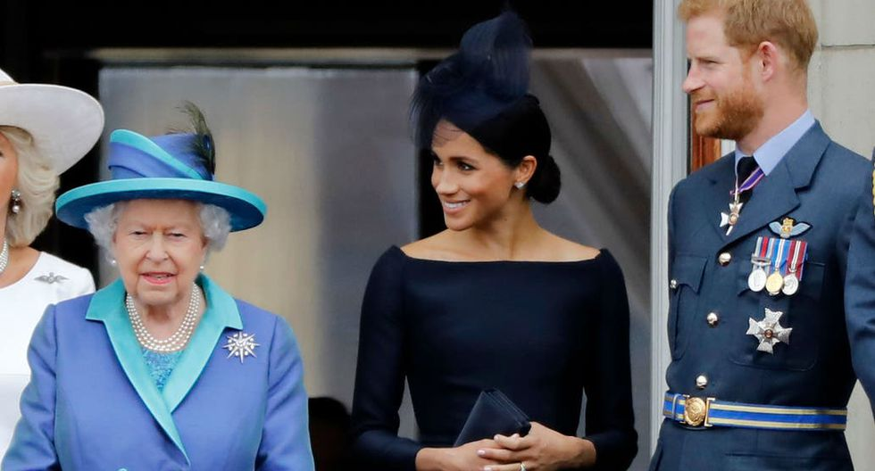 Si bien se esperaba que Meghan Markle participara de la cumbre con la reina Isabel II a través de una videoconferencia, finalmente no participó. Foto: AFP