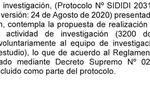 El protocolo del ensayo de Sinopharm no debió incluir las 3.200 dosis adicionales. (Fragmento del informe Carbone)