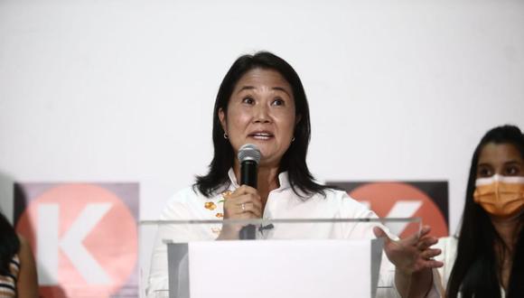 """Keiko Fujimori también enfatizó que """"está en juego el modelo de país y la forma de enfrentar la pandemia del COVID-19. (Foto: Jesús Saucedo/ @photo.gec)"""
