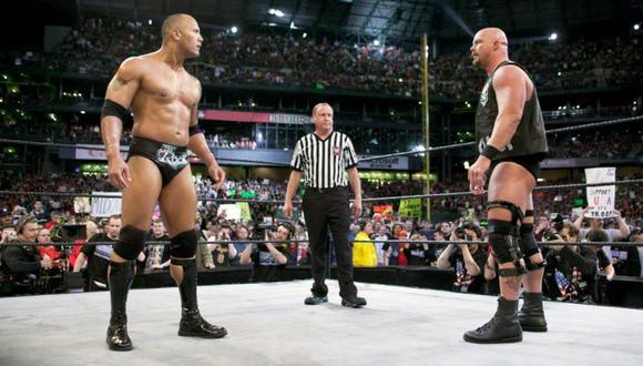 La última pelea de Stone Cold fue contra The Rock en WrestleMania XIX. (WWE)