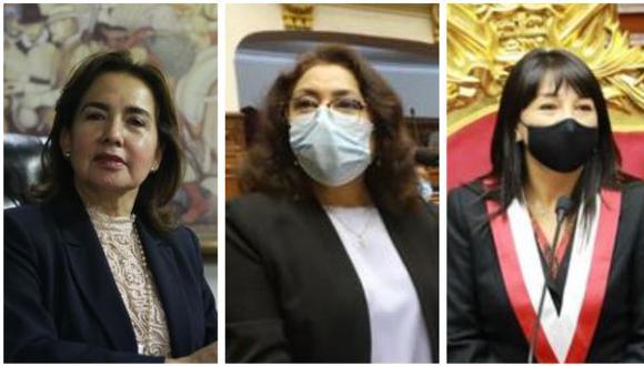 Elvia Barrios, Violeta Bermúdez y Mirtha Vásquez. (Composición: GEC)