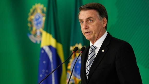 Jair Bolsonaro, presidente de Brasil. (Foto: AFP)