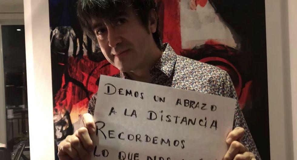 Toño  Jáuregui y su mensaje, que parece insinuar un fin a su enemistad con su excompañero de Libido Salim Vera. (Foto: AMÉN rock Perú)