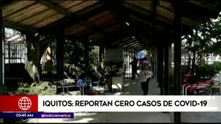 Iquitos: reportan cero casos de COVID-19