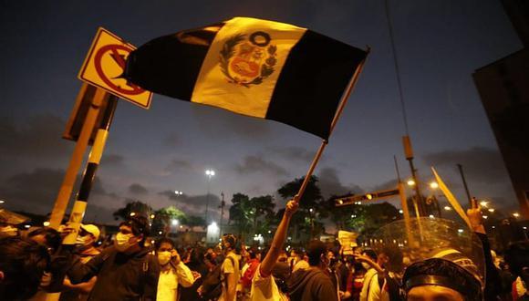La segunda marcha nacional contra Manuel Merino se realizó el sábado 14 de noviembre. (Violeta Ayasta / GEC)
