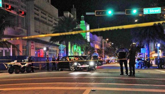 Una mujer atropelló a un policía en Miami Beach y fue abatida. (Foto: Twitter)