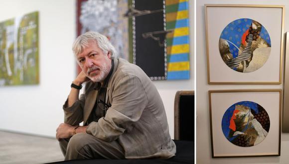 El artista peruano Nader Barhumi denuncia que obras en venta en la tienda Gallerie Home (derecha) son copias de las suyas. (Fotos: Nancy Chappell/Nader Barhumi)