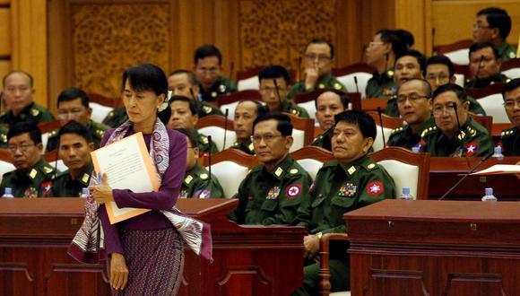 Aung San Suu Kyi, la líder prodemocracia de Myanmar. Foto de archivo, del 2012. REUTERS