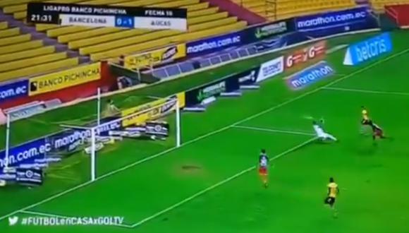 Así definió Martínez para el 1-1. (Captura)