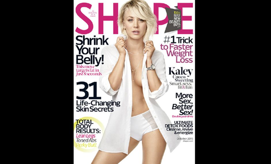 Kaley Cuoco se destapó para portada de revista
