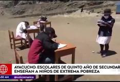 Ayacucho: adolescentes enseñan de manera voluntaria a niños en extrema pobreza