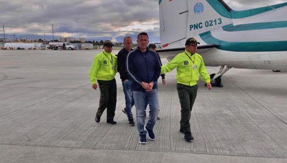 Carlos Alberto Salazar fue capturado en Pereira y trasladado a Bogotá por la Policía Antinarcóticos. (Foto: Policía Antinarcóticos de Colombia).