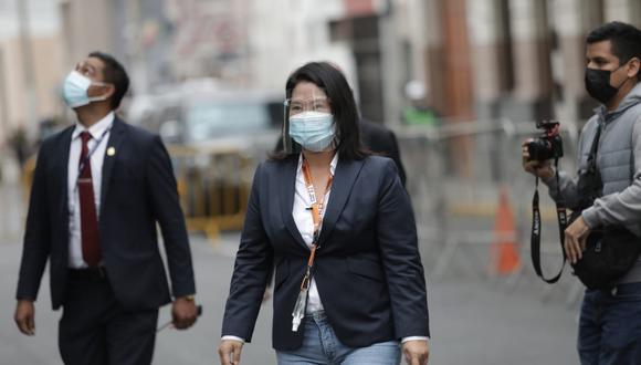 """Keiko Fujimori cuestionó """"la oportunidad en la que se ha hecho la solicitud para que se revoque esta comparecencia"""", en referencia a su pedido de revisión de actas electorales. (Foto: El Comercio)"""