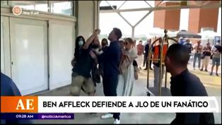 Ben Affleck defiende a 'JLO' de un fanático