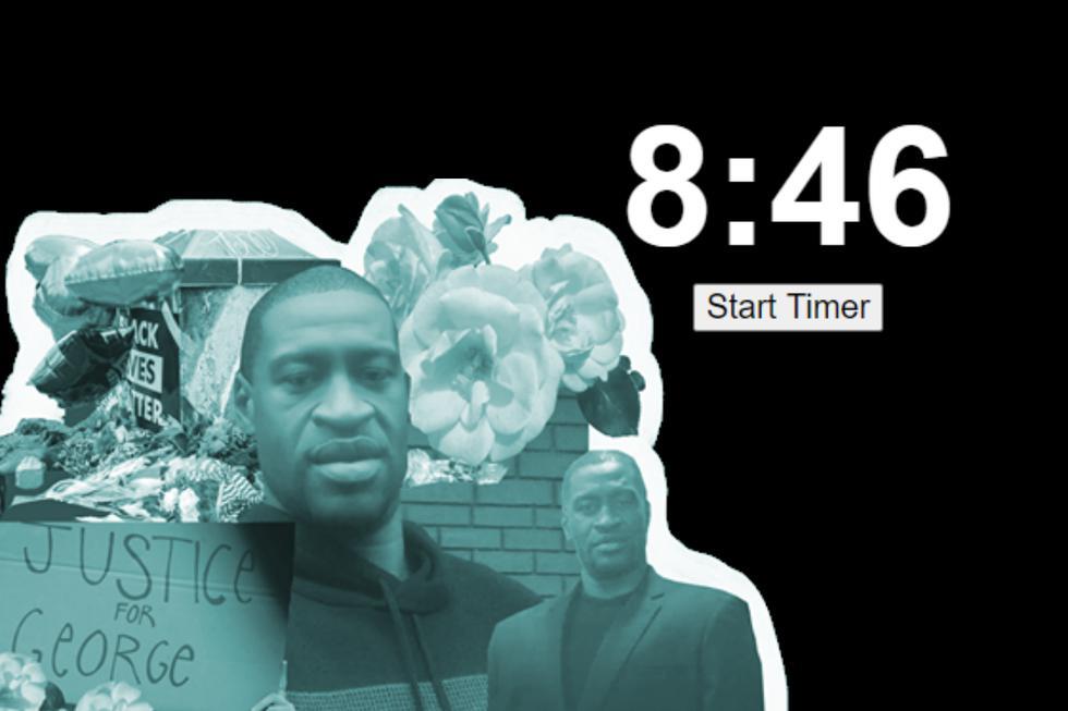Un temporizador en un sitio web retrata los últimos momentos de George Floyd, el afroamericano que murió en el suelo asfixiándose tras ser reducido a la fuerza por cuatro policías en Estados Unidos.(Fotos: baristanet.com/8m46s.com)