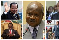 Yoweri Museveni y otros presidentes que llevan más de 20 años en el poder en África