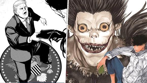 Donald Trump es el protagonista de uno de los capítulos del manga One Shot de Death Note y es que este quiere comprar el 'cuaderno de muerte'. (Foto: shueisha)