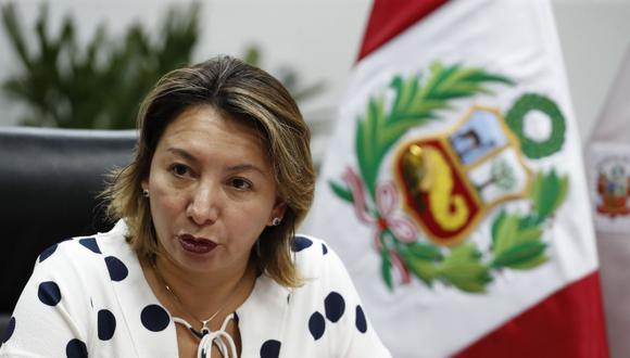La ministra de la Producción, Rocío Barrios, fue acusada de presunto peculado doloso por la fiscalía el 31 de enero. Se piden más de 9 años de cárcel contra ella. (Foto: Andina)