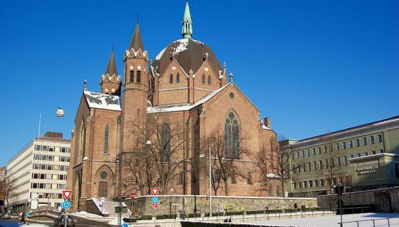 Iglesia de la Trinidad en oslo, Noruega. (Imagen referencial)