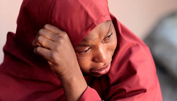 La madre del estudiante Muhammad Bello, uno de los estudiantes que fue secuestrado por Boko Haram, pide su liberación en el estado noroccidental de Katsina, Nigeria. (Foto: Reuters / Afolabi Sotunde)