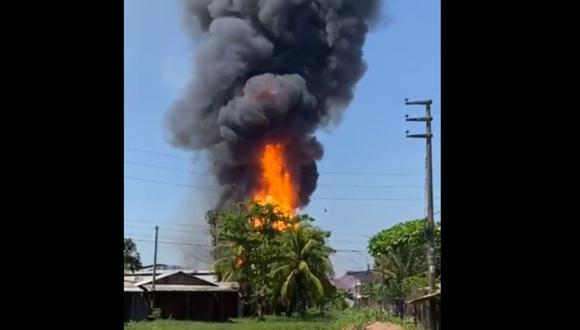 El incendio se produjo al promediar las 10 am de este miércoles 15 de septiembre (Foto: Agencia de Noticias Pucallpa)