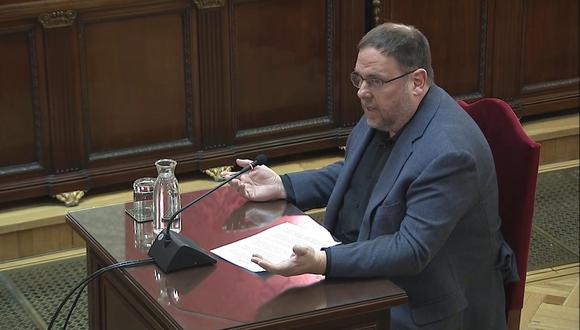 """Otorgar permiso a Junqueras """"supondría la puesta en marcha de un trámite"""" que tendría que culminar con su traslado a Bruselas para asumir el escaño, indicó la corte. (Foto: EFE)"""
