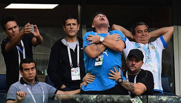 Diego Maradona, tras finalizar el Mundial, asumirá un nuevo reto en su carrera deportiva con el cargo de presidente del Dynamo Brest Bielorrusia. (AFP)