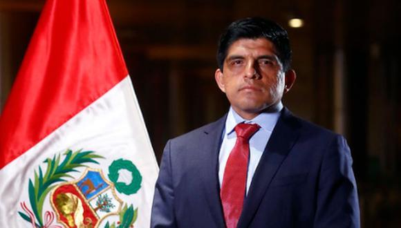 Juan Carrasco Millones informó que renunció a su cargo como fiscal para poder ejercer la labor de ministro del Interior   Foto: Presidencia Perú