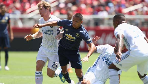 Manchester United no pudo frente al San José Eartquakes en el Levi's Stadium de Santa Clara, California. El chileno Alexis Sánchez tuvo minutos en el amistoso. (Foto: Twitter)