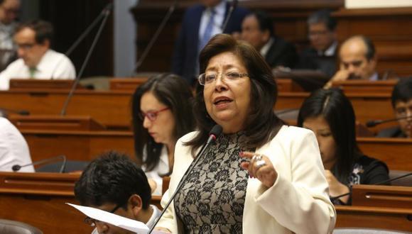 Maria Elena Foronda fue suspendida por 60 días. (Foto: Congreso)