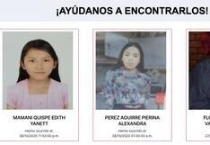 #AyúdanosAEncontrarlos: las familias de Mónica, Pierina, Edith, Delicia, Angely y Valentina las están buscando
