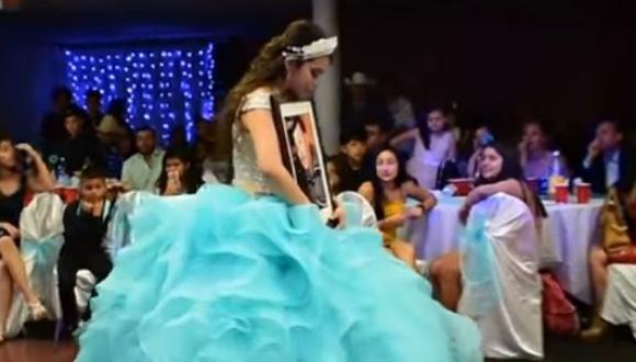 La historia de una quinceañera se volvió viral rápidamente en YouTube, por el alto contenido sentimental. (Foto: captura de video)