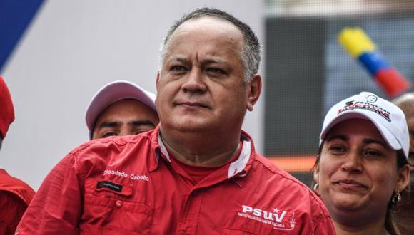 """Diosdado Cabello hizo la acusación contra el Banco de Inglaterra en su programa de televisión """"Con el mazo dando"""". (Getty Images via BBC)"""