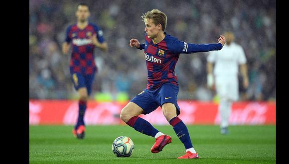 Barcelona confirmó que Frenkie De Jong sufrió una lesión en el sóleo   Foto: AFP