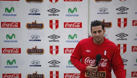 Claudio Pizarro tiene 20 goles durante toda su trayectoria con la selección peruana (17 años). FOTO: DANIELLE VILLASANA / EL COMERCIO