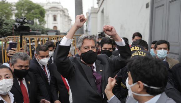 Francisco Sagasti reemplazará en el cargo a Manuel Merino de Lama, quien renunció tras las protestas que dejaron dos muertos y más de 100 heridos. (Foto: Hugo Perez / @photo.gec)
