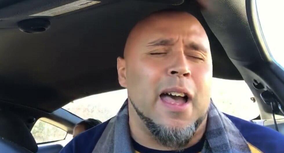 Un padre de familia conquistó las redes sociales con su talento para el canto. (Foto: Kris Jones en YouTube)