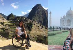 La peruana que viaja en silla de ruedas y quiere recorrer las siete maravillas del mundo | FOTOS