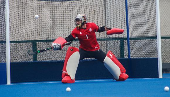 Mafferetti sigue atajando en la selección de hockey. (Foto: Federación Peruana de Hockey)