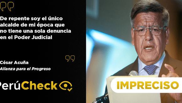 PerúCheck. La afirmación del candidato presidencial de Alianza Para el Progreso fue sometida a fact checking