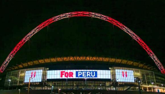 Así se pintó Wembley en el 2017, en su celebración de sus 10 años de construido el nuevo recinto. (Captura)
