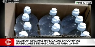 Fiscalía allanó oficinas implicadas en compras irregulares de mascarillas para la PNP