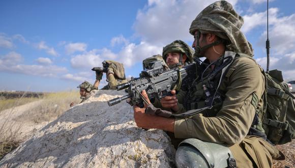 Los soldados israelíes participan en ejercicios militares cerca del área norte de Elyakim, el pasado 14 de octubre de 2020, durante una simulación para proteger la frontera norte del país. (Fotos: Emmanuel DUNAND / AFP)