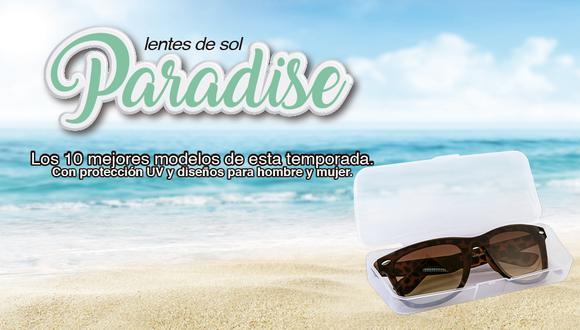 Con 10 modelos de lentes de sol con protección UV y en diferentes diseños para damas y caballeros.