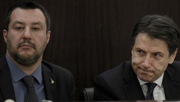 El barco Open Arms es la última fuente de tensión entre Matteo Salvini y Giuseppe Conte. Foto. Getty Images, via BBC Mundo