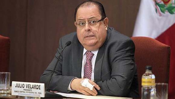 El presidente del Banco Central de Reserva del Perú, Julio Velarde.