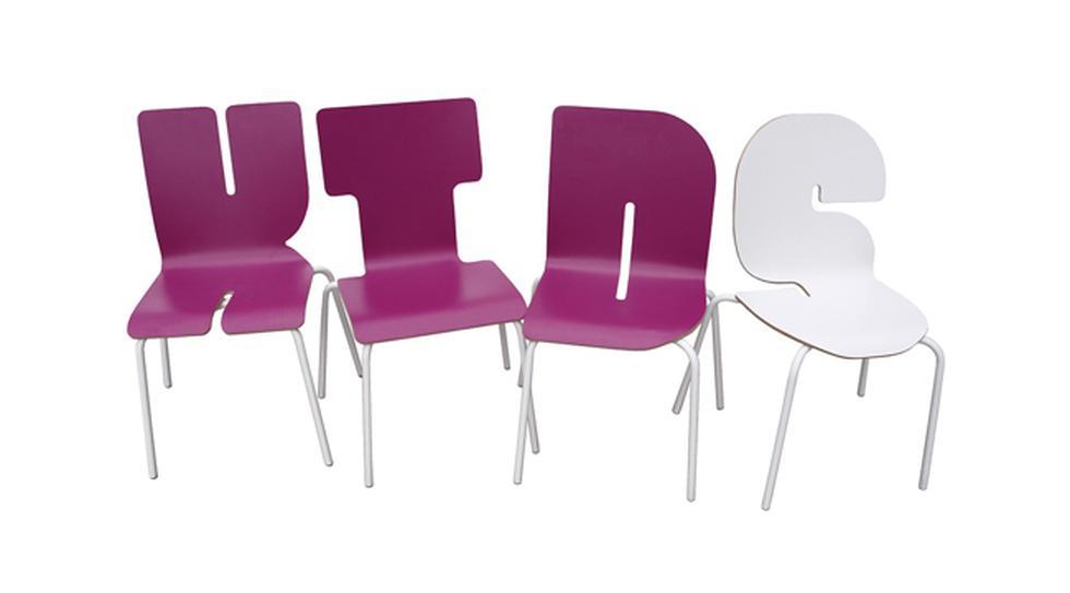 Muebles expresivos: Conoce estas sillas con forma de letras - 2