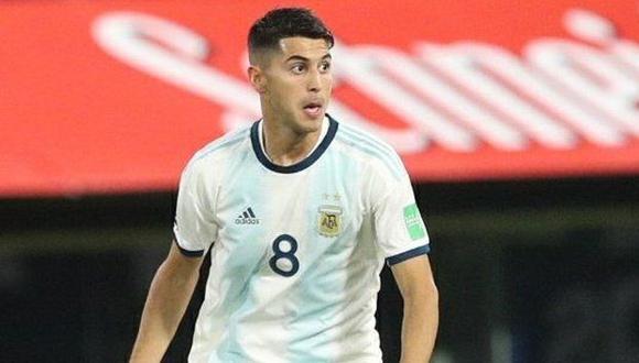 Exequiel Palacios salió a los 29 minutos del primer tiempo ante Paraguay por la lesión. (Foto: AFP)